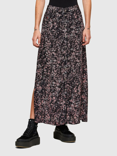 Diesel - O-PALMS, Black/Pink - Skirts - Image 1