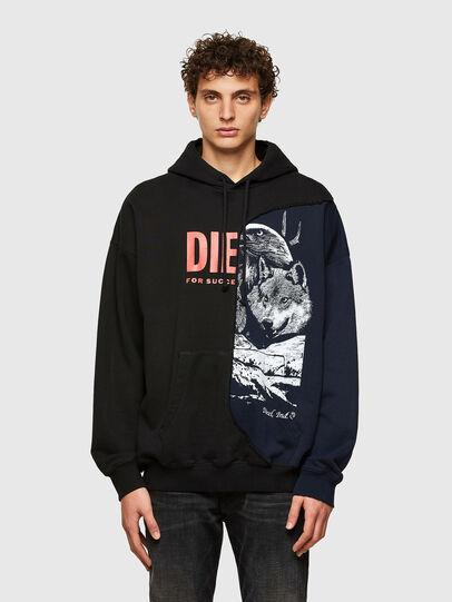 Diesel - S-BLASTY, Blue/Black - Sweatshirts - Image 1