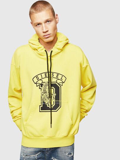 Diesel - S-ALBY-B8, Yellow - Sweatshirts - Image 1