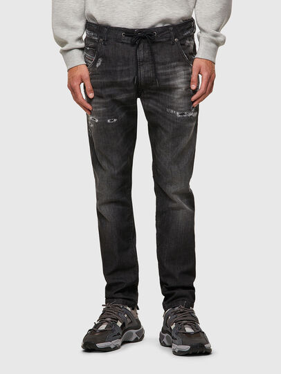 Diesel - Krooley Tapered JoggJeans® 09B53, Black/Dark Grey - Jeans - Image 1
