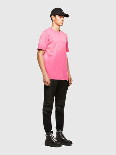 Diesel - T-JUBIND-SLITS-A1, Hot pink - T-Shirts - Image 4