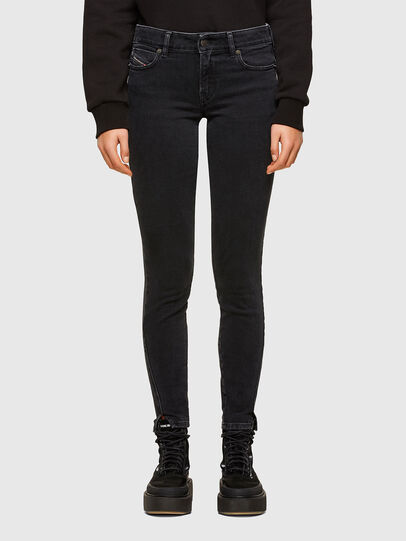 Diesel - D-Jevel Slim Jeans 0870G, Black/Dark Grey - Jeans - Image 1