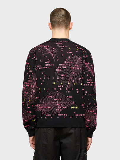 Diesel - K-OREGON, Black/Pink - Sweaters - Image 2