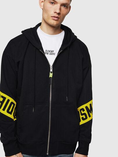 Diesel - S-ALBY-ZIP-A1, Black - Sweatshirts - Image 1