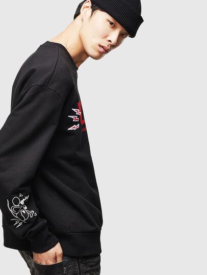 Diesel - CL-SNOR-LITMA, Black - Sweatshirts - Image 5