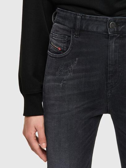 Diesel - Slandy High Skinny Jeans 069SB, Black/Dark Grey - Jeans - Image 3
