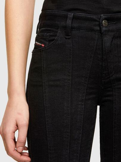 Diesel - Slandy Skinny Jeans 069VP, Black/Dark Grey - Jeans - Image 3