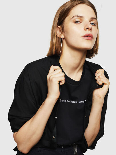 Diesel - T-SILY-WR, Black - T-Shirts - Image 3