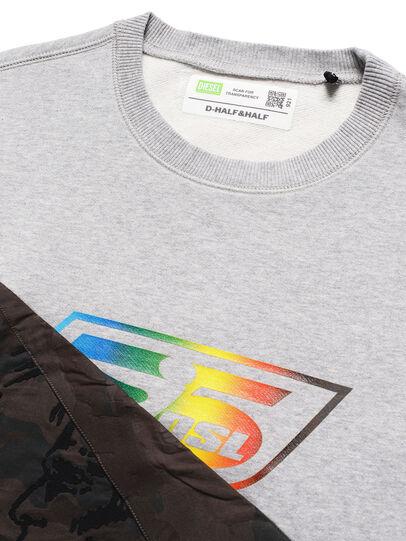 Diesel - D-HALF&HALF, Grey - Sweatshirts - Image 4