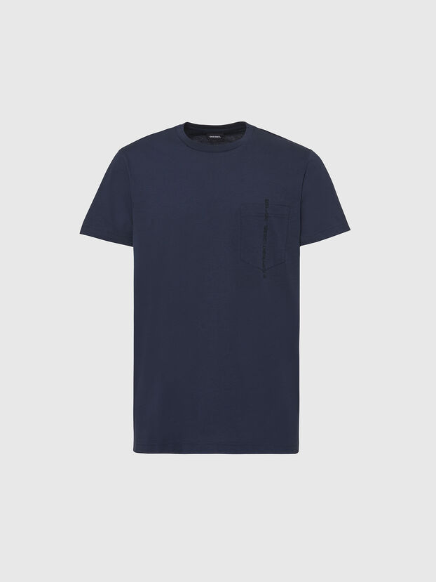 T-RUBIN-POCKET-J1, Dark Blue - T-Shirts