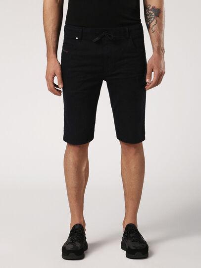 Diesel - KROOSHORT JOGGJEANS, Black Jeans - Shorts - Image 2
