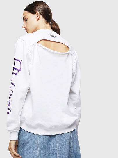 Diesel - F-LYANYDY-A, White - Sweatshirts - Image 2