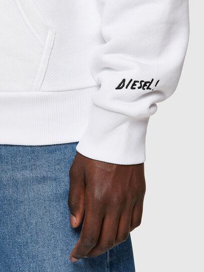 Diesel - S-GIRK-HOOD-B1, White - Sweatshirts - Image 3