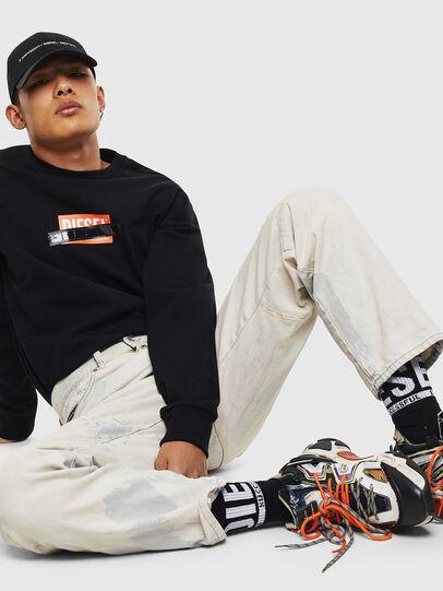 Diesel - S-GIRK-S4, Black - Sweatshirts - Image 4