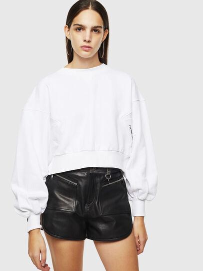 Diesel - F-MONDY, White - Sweatshirts - Image 1