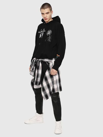 Diesel - S-ALBY-HOOD-Y1, Black - Sweatshirts - Image 4