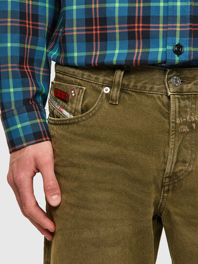 Diesel - D-Kras Slim Jeans 09A35, Military Green - Jeans - Image 3