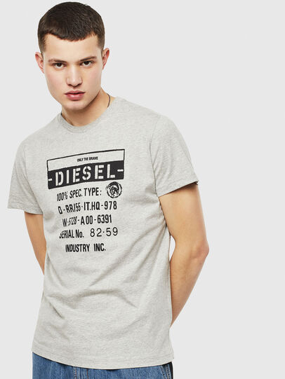 Diesel - T-DIEGO-S1, Grey - T-Shirts - Image 1