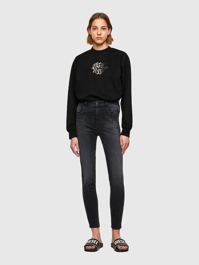 Diesel - Slandy High Skinny Jeans 069SB, Black/Dark Grey - Jeans - Image 5