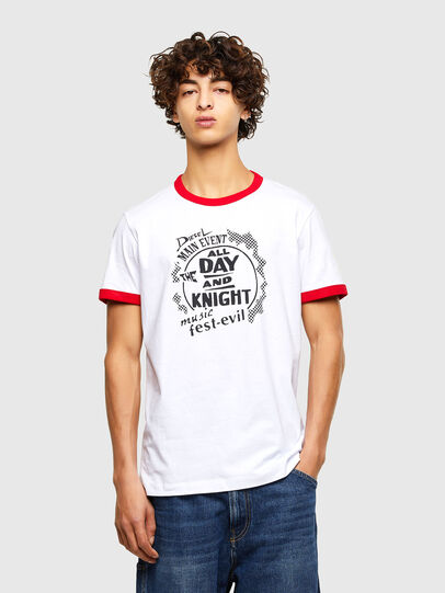 Diesel - T-DIERING-K10, White - T-Shirts - Image 1