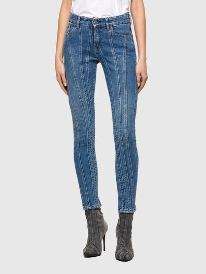 Diesel - Slandy Skinny Jeans 009QS, Light Blue - Jeans - Image 1