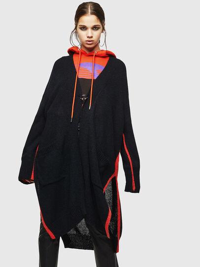 Diesel - M-SURI, Black/Red - Sweaters - Image 1
