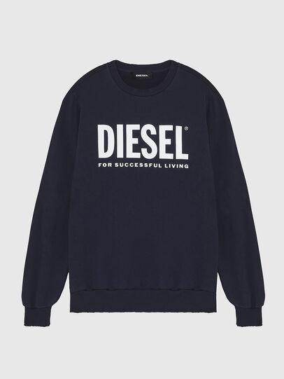 Diesel - S-GIR-DIVISION-LOGO, Dark Blue - Sweatshirts - Image 1
