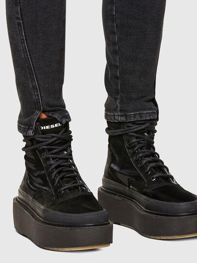 Diesel - D-Jevel Slim Jeans 0870G, Black/Dark Grey - Jeans - Image 5