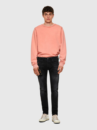 Diesel - Sleenker Skinny Jeans 0092B, Black/Dark Grey - Jeans - Image 5