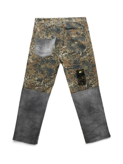 Diesel - D-ONT-HURT-ME, Green Camouflage - Pants - Image 2