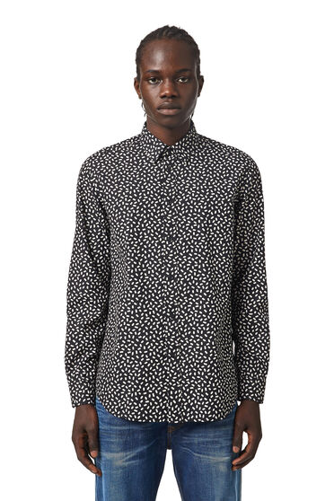 Shirt with micro graphic print