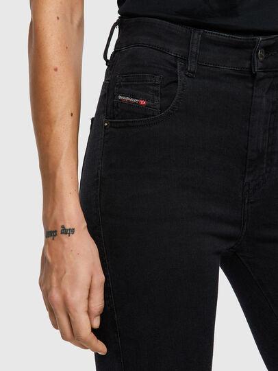 Diesel - Slandy High Skinny Jeans 069VW, Black/Dark Grey - Jeans - Image 3