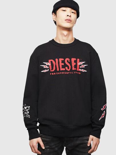 Diesel - CL-SNOR-LITMA, Black - Sweatshirts - Image 1