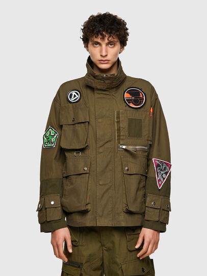 Diesel - J-BATTLE, Military Green - Jackets - Image 1