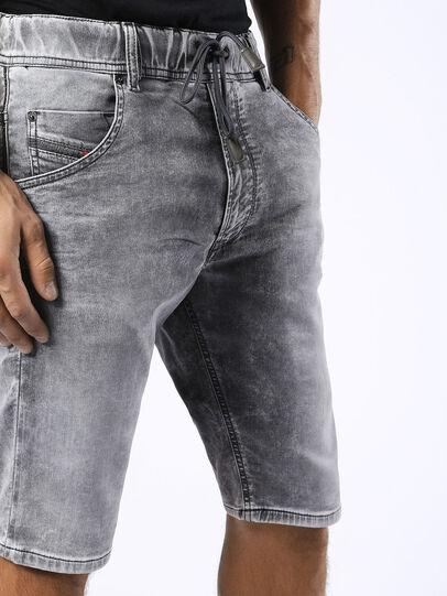 Diesel - KROSHORT JOGGJEANS, Light Grey - Shorts - Image 7