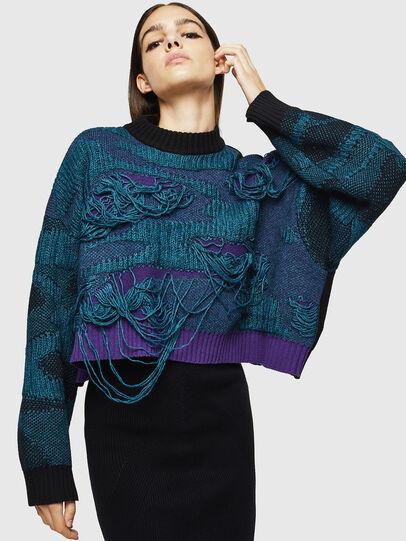 Diesel - M-KAM, Blue Marine - Sweaters - Image 4