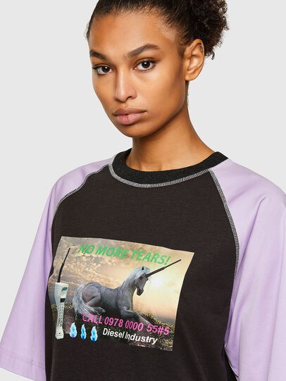Diesel - T-SPO, Black/Violet - T-Shirts - Image 3