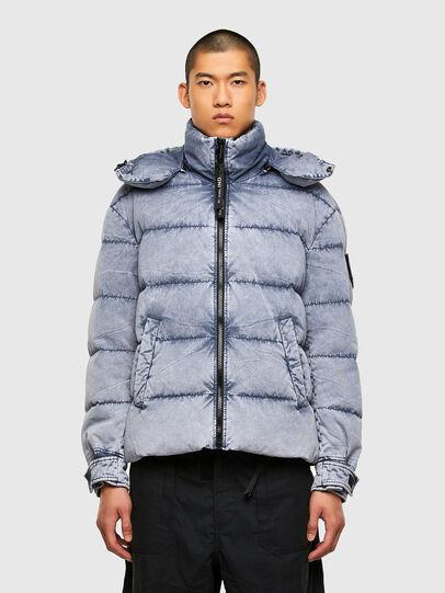 Diesel - W-EVACID-A, Light Blue - Winter Jackets - Image 1