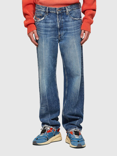 Diesel - D-Macs Straight Jeans 09A25, Medium Blue - Jeans - Image 1