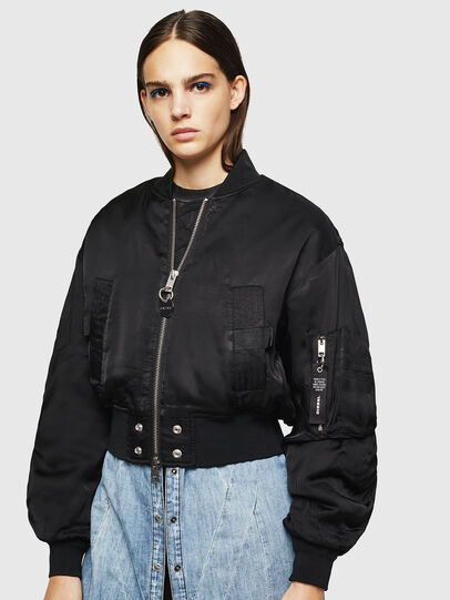 Diesel - W-BRESHA, Black - Winter Jackets - Image 1