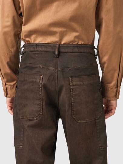 Diesel - D-Franky Straight Jeans 09B38, Brown - Jeans - Image 5