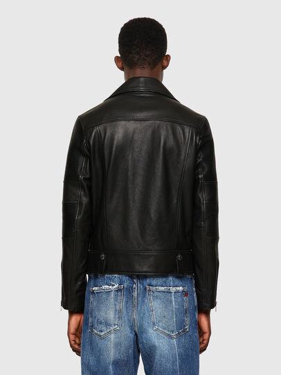 Diesel - L-STARKVILLE-A, Black - Leather jackets - Image 2