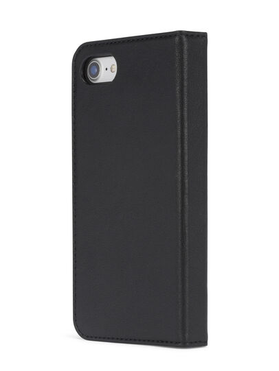 Diesel - BLACK DENIM/STUD/ZIPPER IPHONE 8 PLUS/7 PLUS  FOLIO, Black - Flip covers - Image 5
