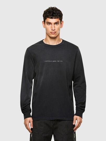 Diesel - T-JUBIND-LS, Black - T-Shirts - Image 1