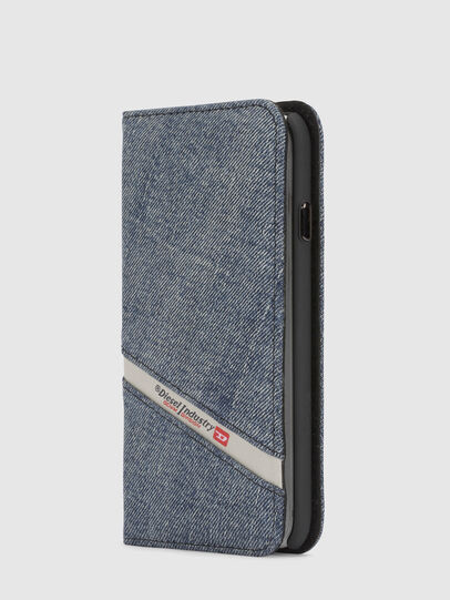 Diesel - DENIM IPHONE X FOLIO, Blue Jeans - Flip covers - Image 4