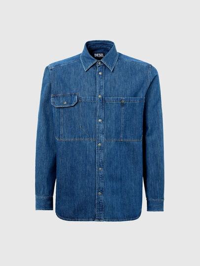 Diesel - D-MILLY-SP, Azul medio - Camisas de Denim - Image 5