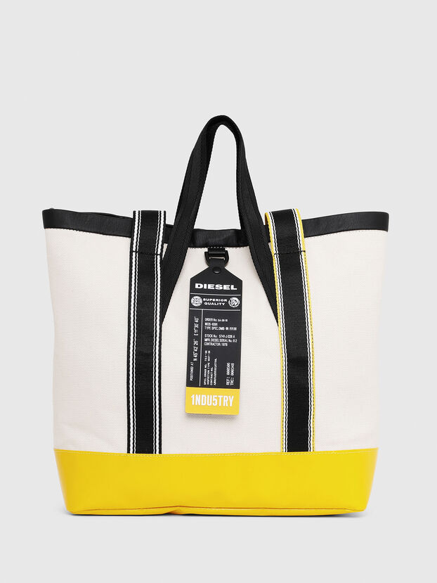 F-CAORLY T BACK, White/Black - Shopping and Shoulder Bags