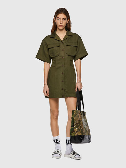 Diesel - D-AMABEL, Military Green - Dresses - Image 5