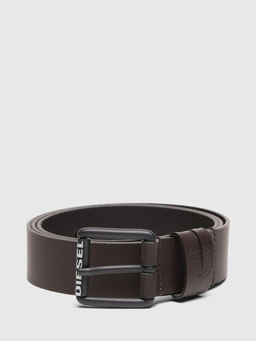 Leather belt with Mohawk loops