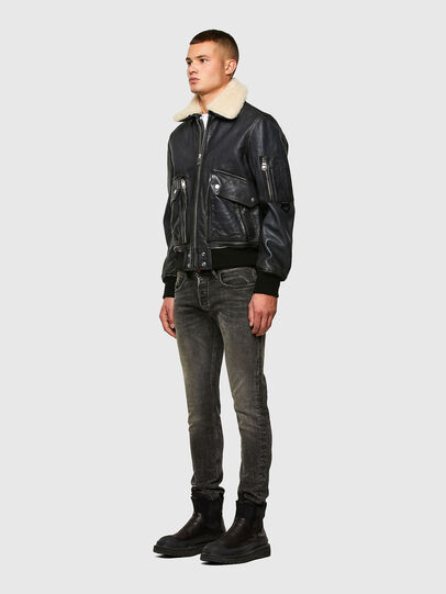 Diesel - L-STEPHEN, Black - Leather jackets - Image 6